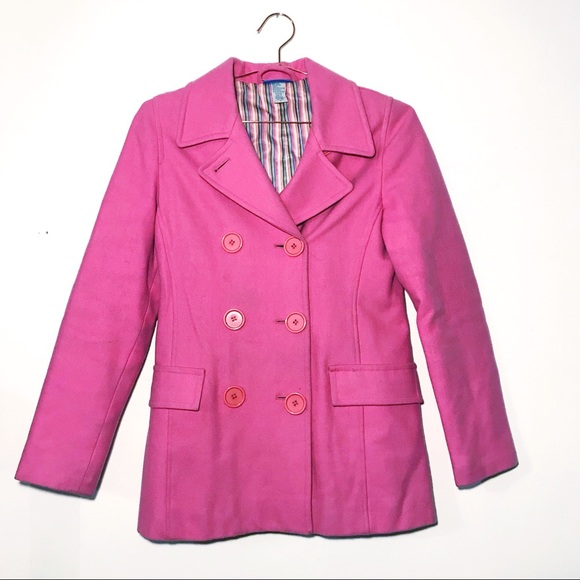 dELiA*s Jackets & Blazers - dELiA*s Pink Wool Peacoat *vintage*